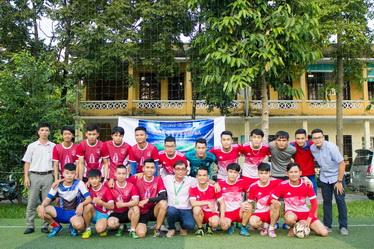Giao lưu với doanh nghiệp và giải bóng đá sinh viên thường niên